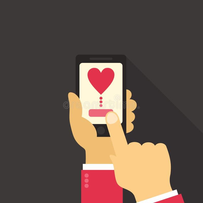 Amor do telefone ilustração do vetor