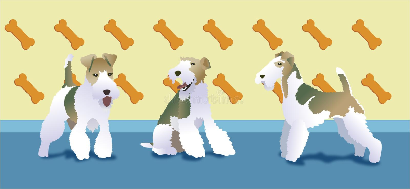 Amor do terrier de Fox ilustração do vetor