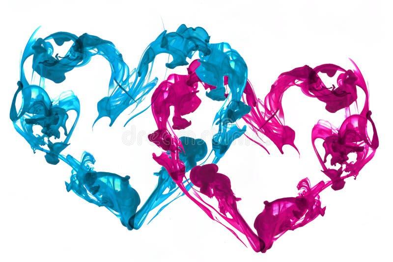 Amor dos corações da tinta imagem de stock royalty free