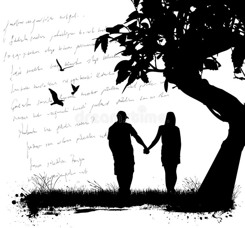 Amor dos pares ilustração stock