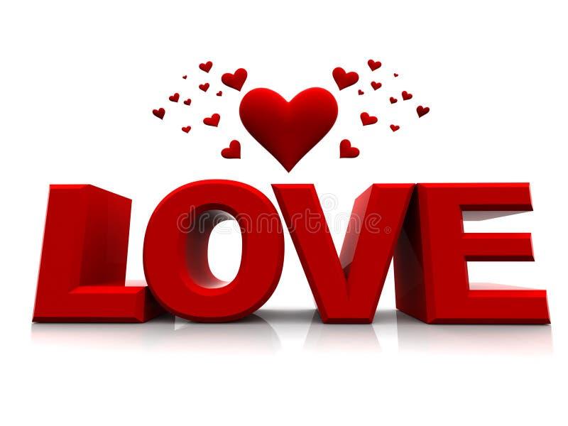 Amor dos Valentim ilustração do vetor