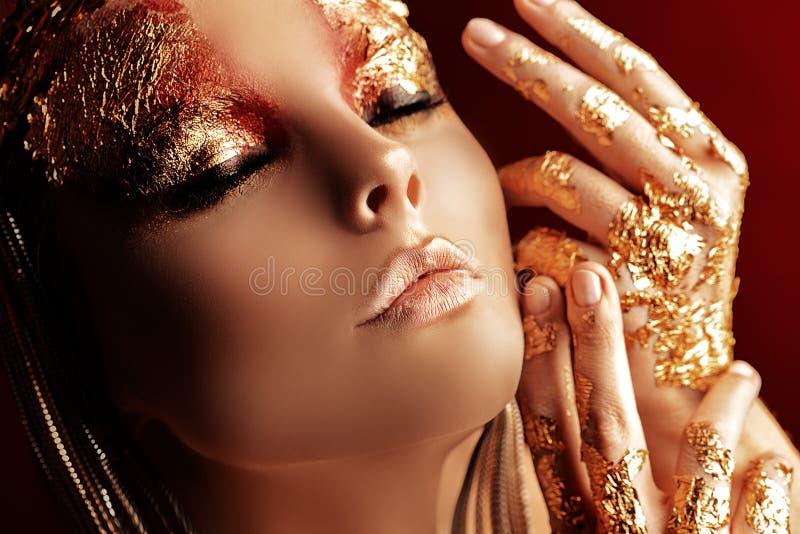Amor dourado fotografia de stock royalty free