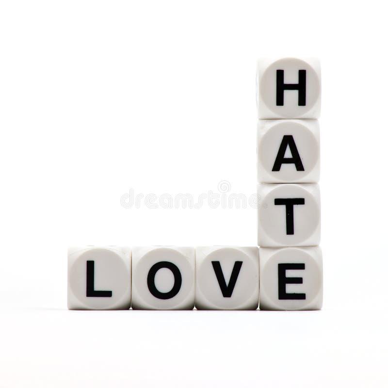 Amor e ódio imagem de stock royalty free