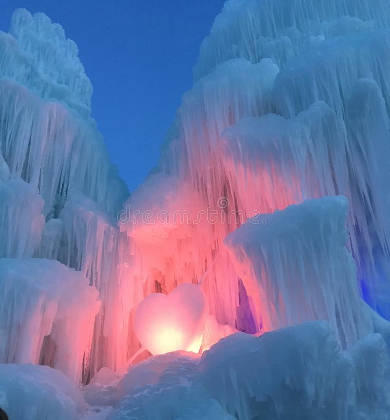 AMOR e castelos do gelo foto de stock