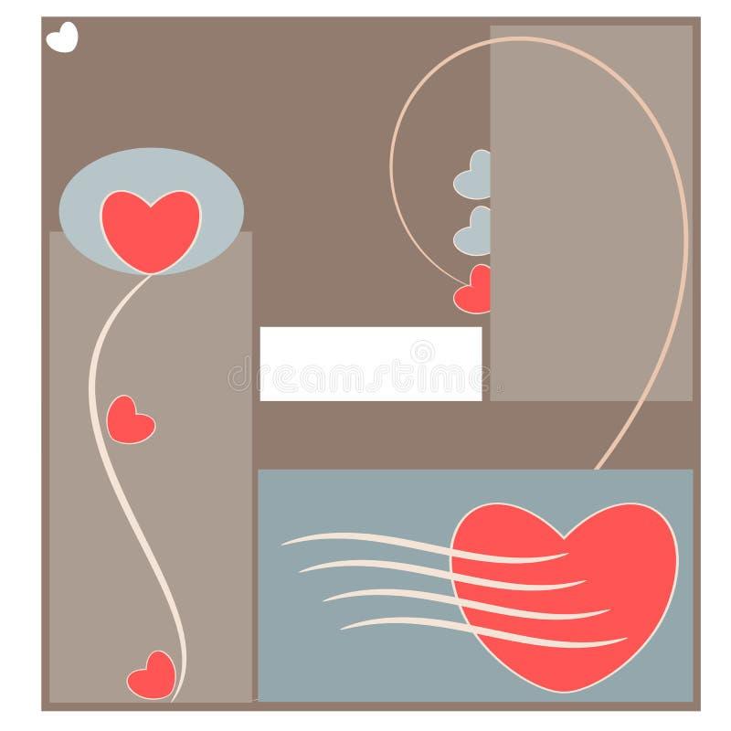 Amor e coração abstratos ilustração royalty free