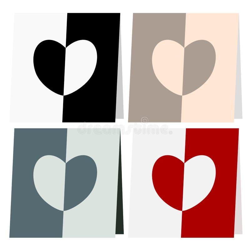 Amor e coração abstratos ilustração stock