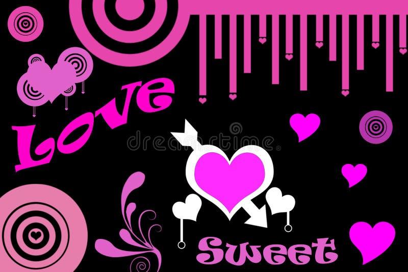 Amor e doce foto de stock