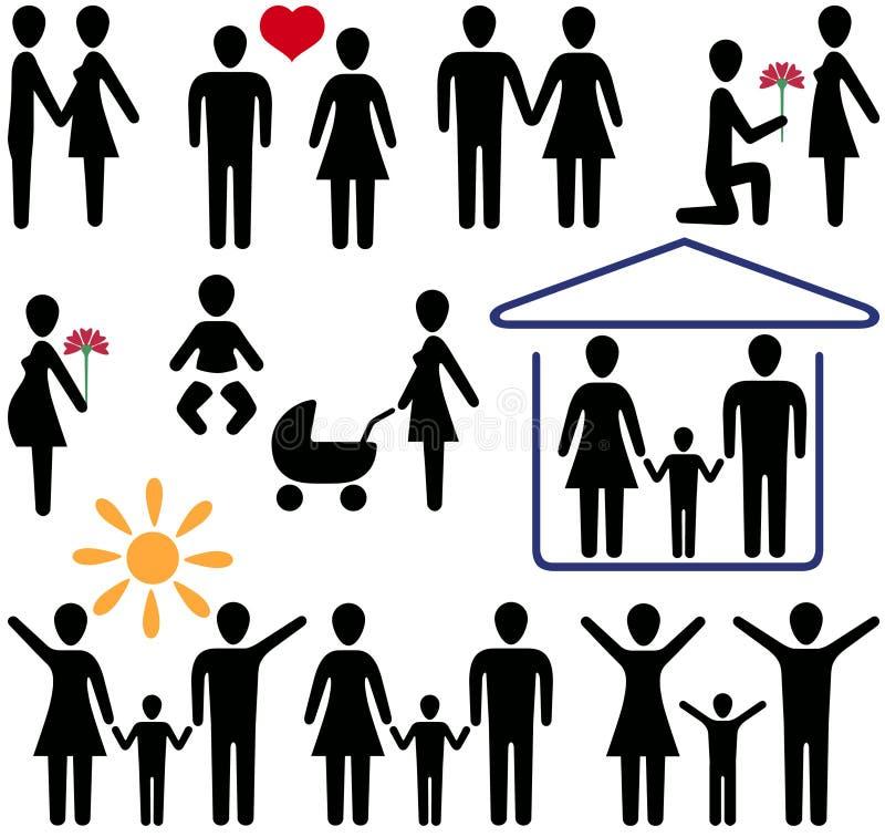 Amor e família ilustração royalty free