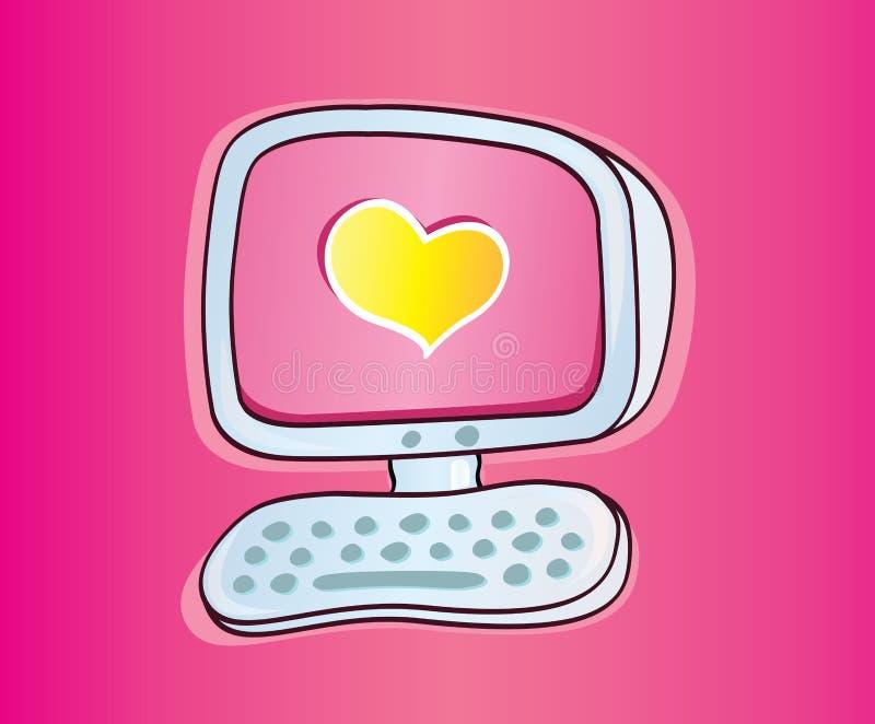 Amor em linha ilustração royalty free