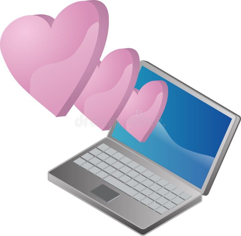 Amor em linha ilustração stock