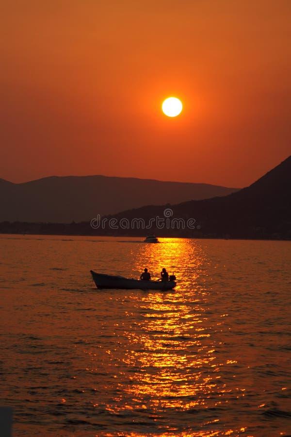 Amor en el mar adriático foto de archivo libre de regalías