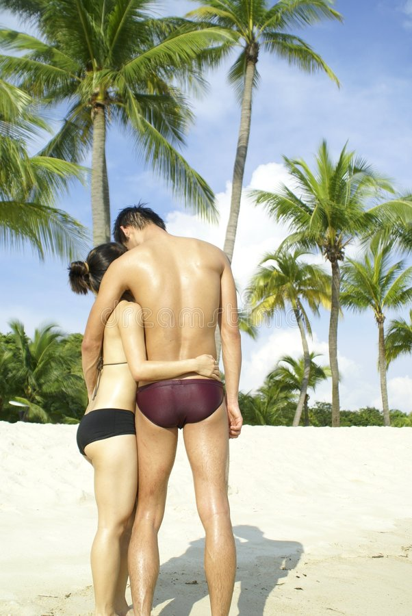 Amor en la playa tropical