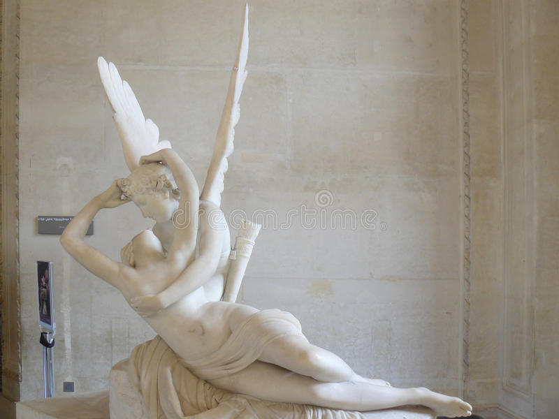 Amor en Psyches & x28; Antonio Canova & x29; royalty-vrije stock afbeeldingen