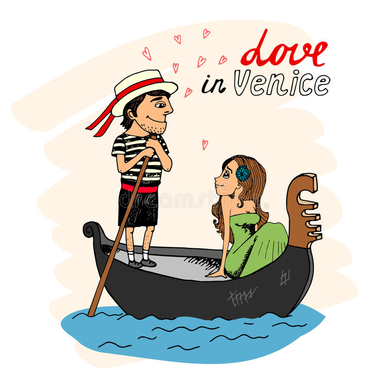 Amor en Venecia libre illustration