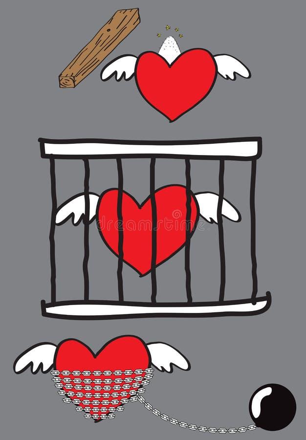 Amor encarcerado ilustração royalty free