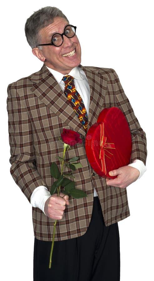 Amor engraçado, romance, datando, Valentine Isolated fotos de stock