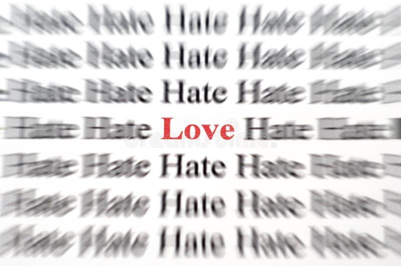 Amor entre o ódio fotos de stock royalty free