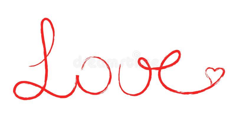 Amor escrito ilustração do vetor