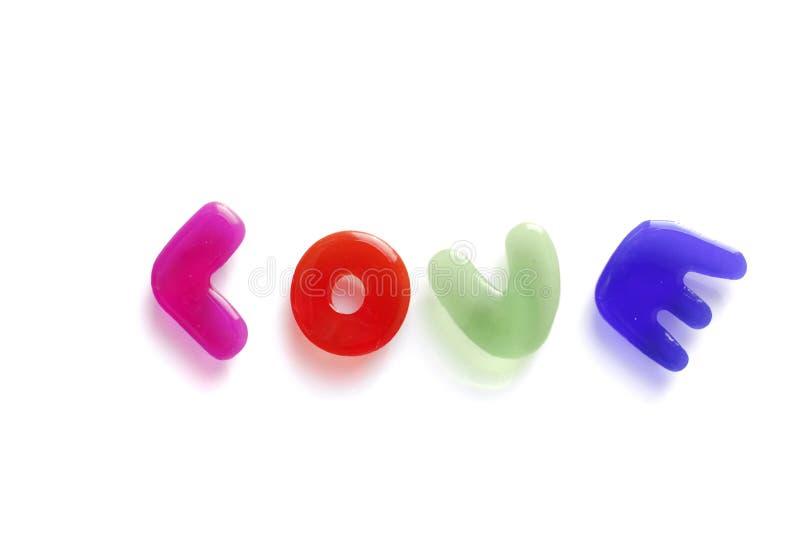 Download Amor Escrito Com Letras Da Geléia Imagem de Stock - Imagem de de, cor: 12803127