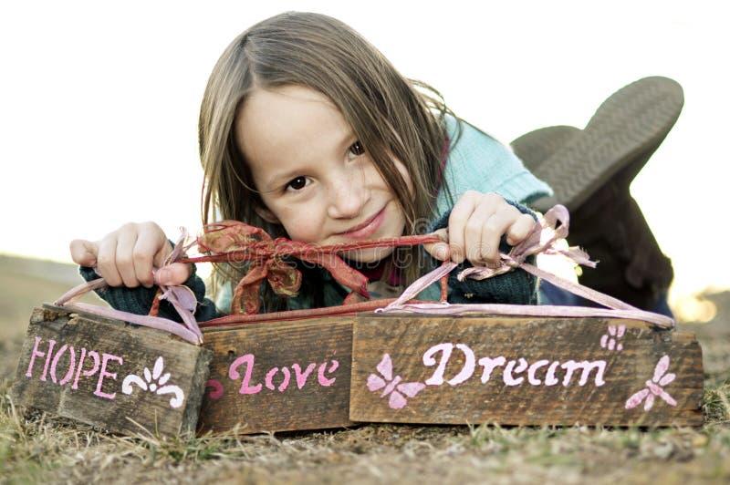 Amor, esperanza, y sueño fotos de archivo