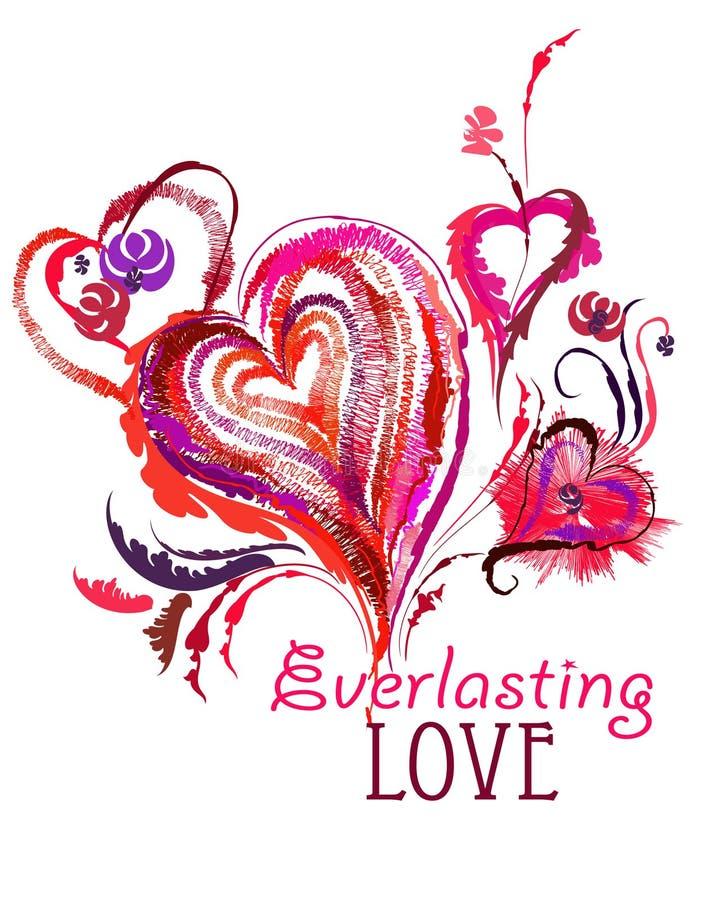 Amor eterno ilustração stock