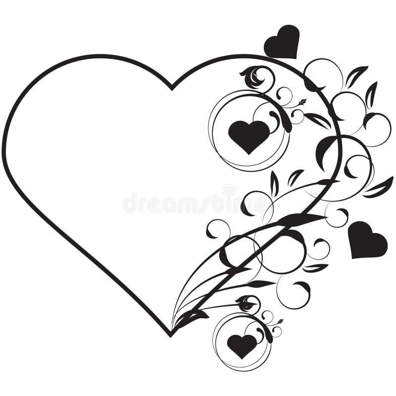 Download Amor floral do vetor ilustração stock. Ilustração de preto - 10057678