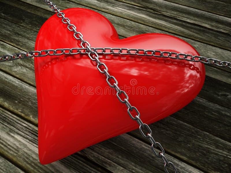 Amor forte ilustração royalty free