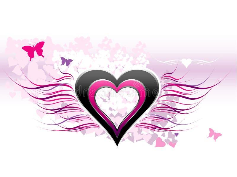 Amor - fundo abstrato ilustração royalty free