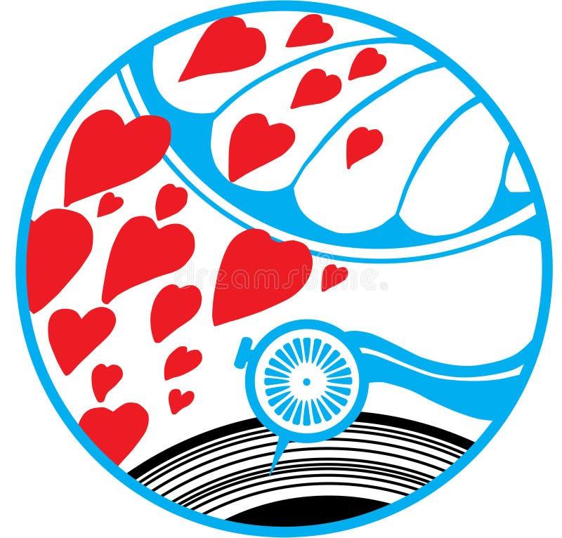 Download Amor Grammophone ilustração do vetor. Ilustração de colorido - 10067653