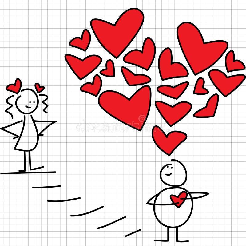 Amor grande ilustração royalty free