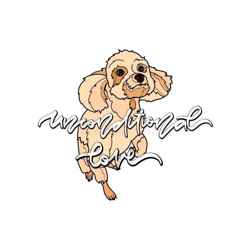 Amor incondicional Ilustração do vetor com cão ilustração do vetor