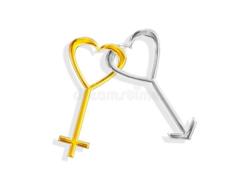 Download Amor lig ilustração stock. Ilustração de ligado, metálico - 63230