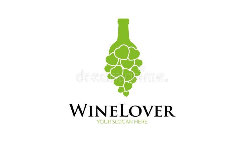 Amor Logo Template do vinho ilustração stock