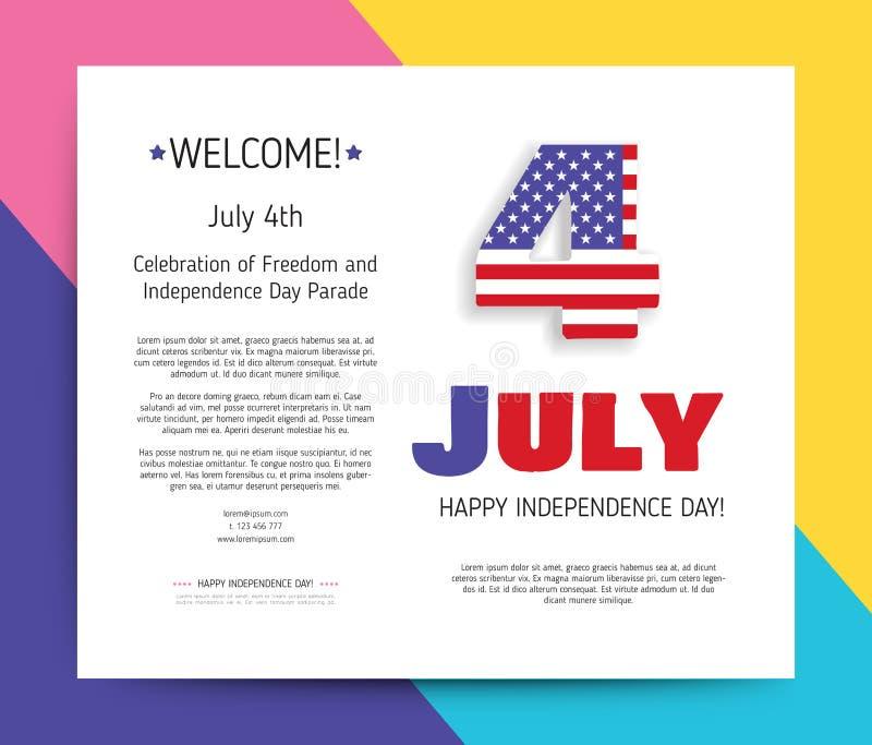 Amor los E.E.U.U., América Día de la Independencia feliz libre illustration