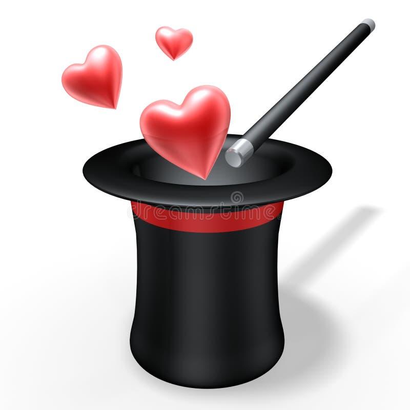 Amor mágico ilustração do vetor