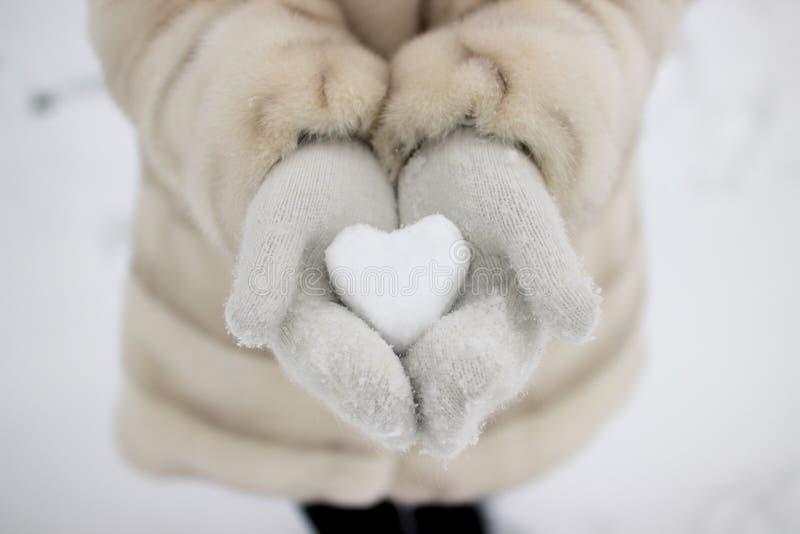 Amor mágico da neve fotos de stock