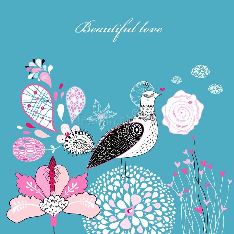 Amor mágico do pássaro ilustração royalty free