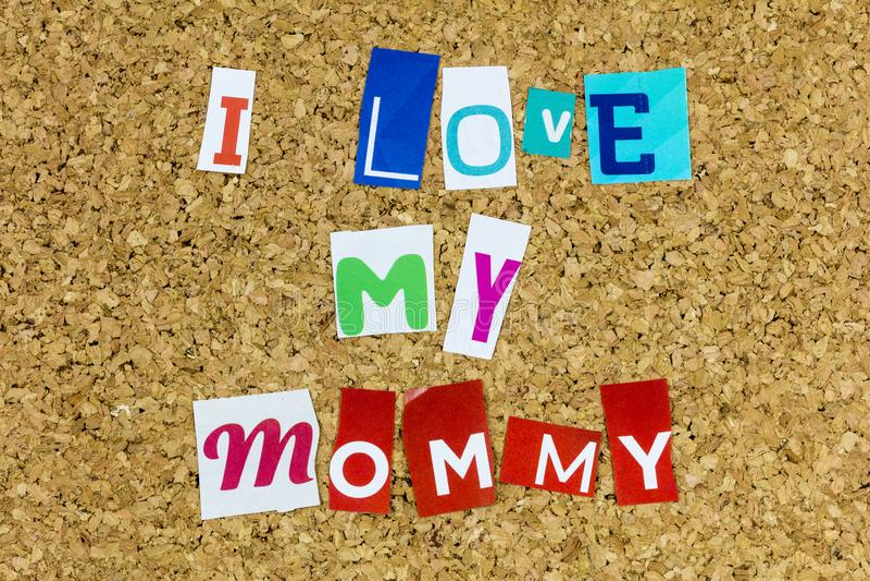 Amor mamãe mãe feliz mãe feliz família do dia de casa foto de stock royalty free