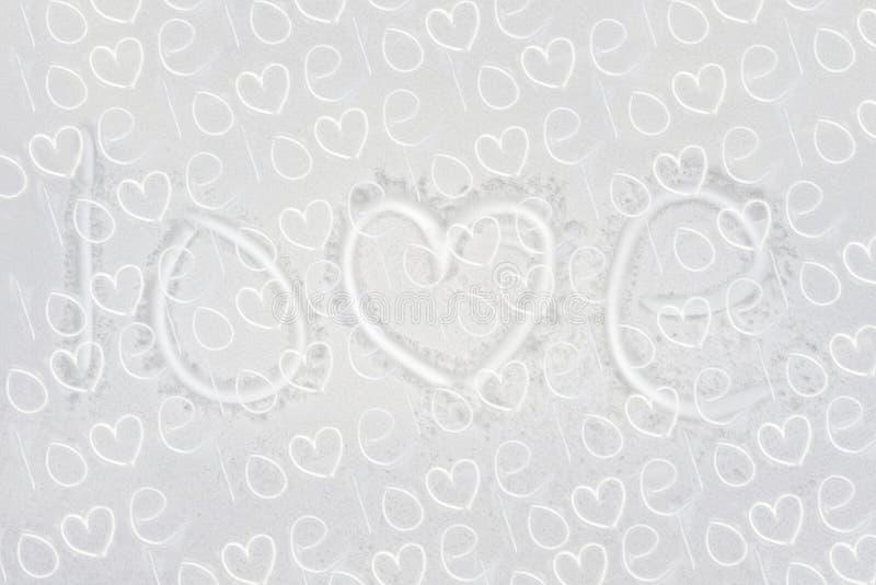 Amor manuscrito del texto fotografía de archivo libre de regalías