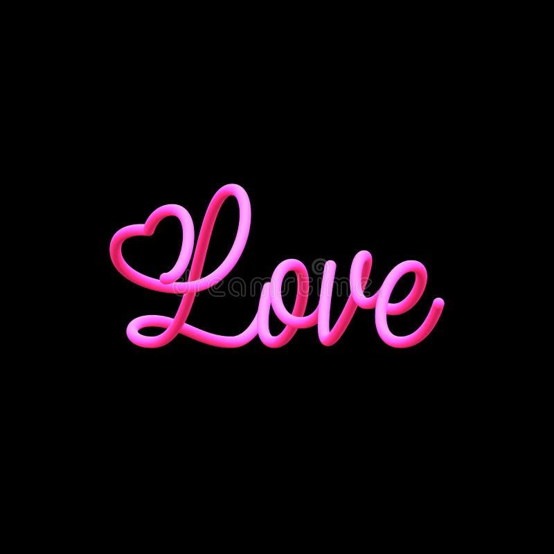 Amor misturado da inscrição ilustração stock