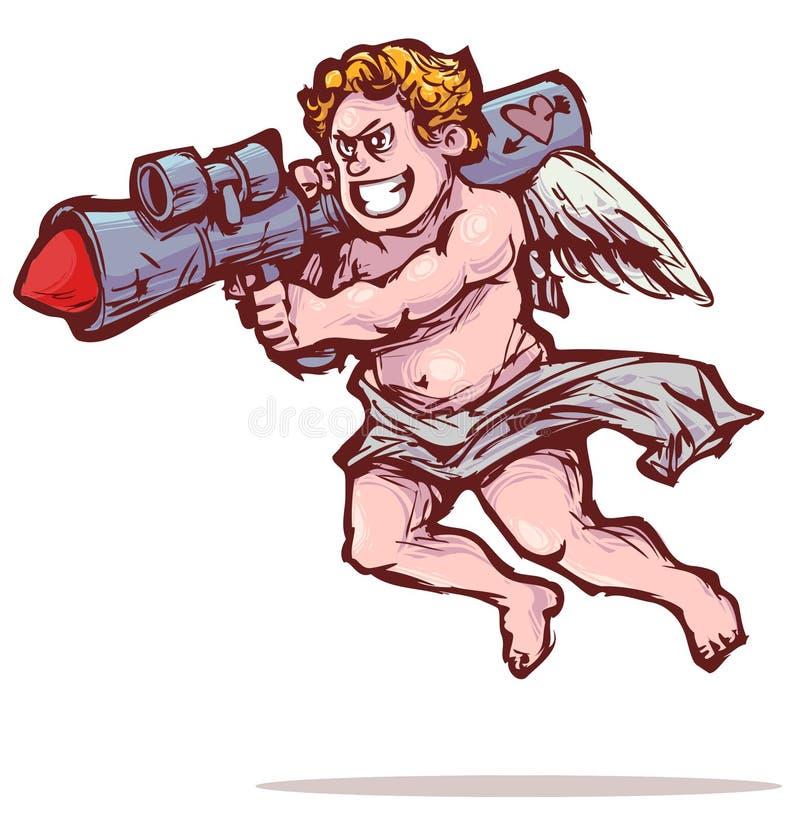 Amor mit Bazooka vektor abbildung