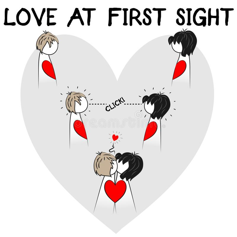 Amor na primeira ilustração da vista ilustração stock