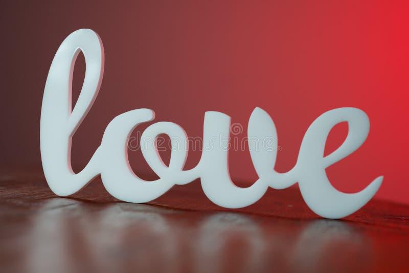 Amor na tabela de madeira fotos de stock royalty free