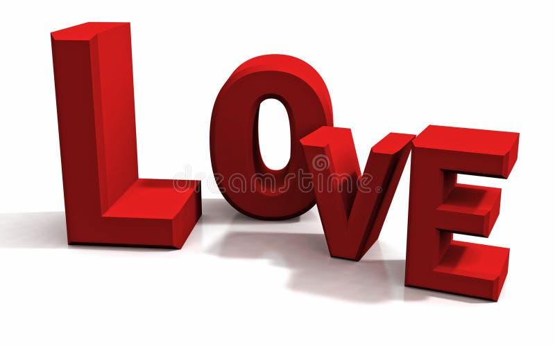 Amor nas letras fotografia de stock