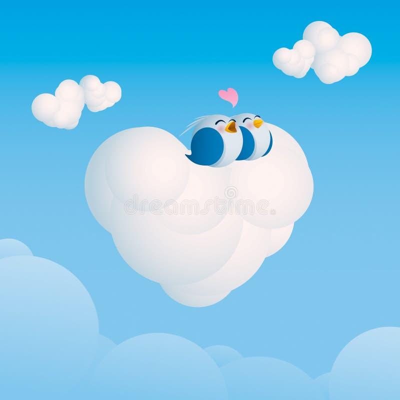 Amor no ar ilustração do vetor