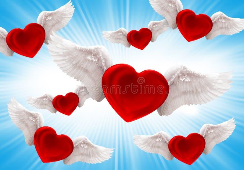 Amor no ar fotos de stock