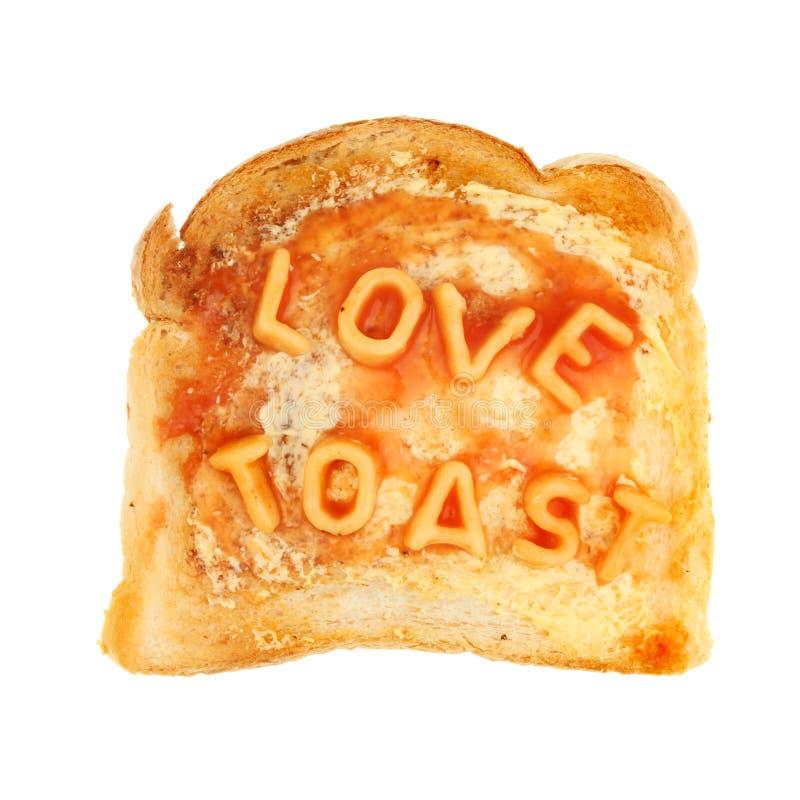Amor no brinde fotografia de stock
