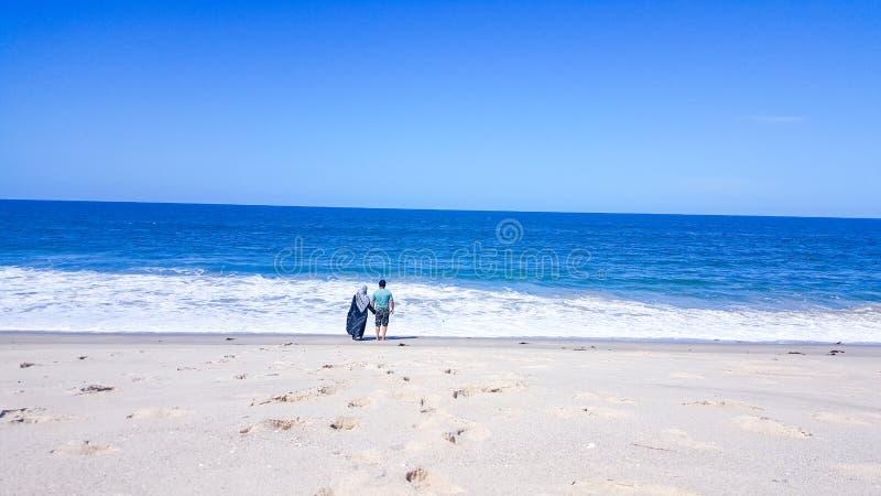 Amor no litoral imagem de stock royalty free