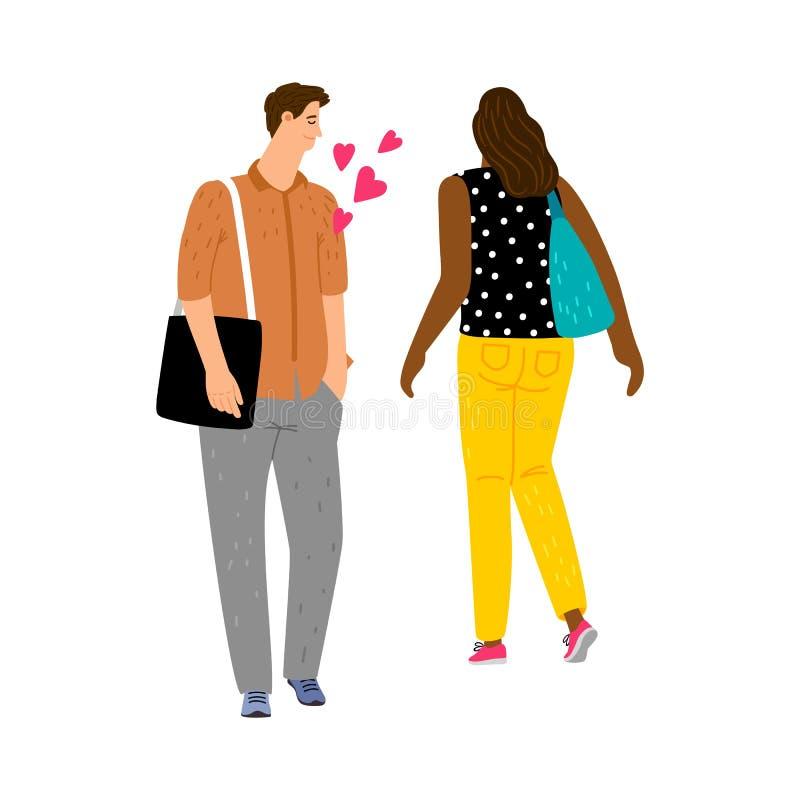 Amor no primeiro conceito da vista ilustração royalty free