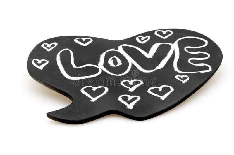 Amor no quadro do coração imagem de stock royalty free